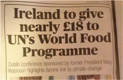 Ireland to give £18 to World Food programme