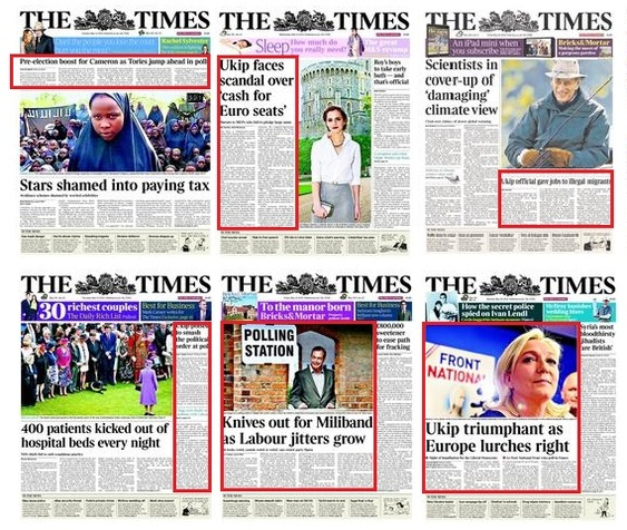 Times front pages