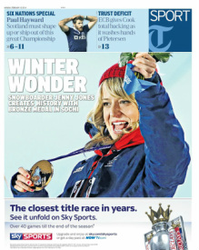 Telegraph sports front 10-02-14