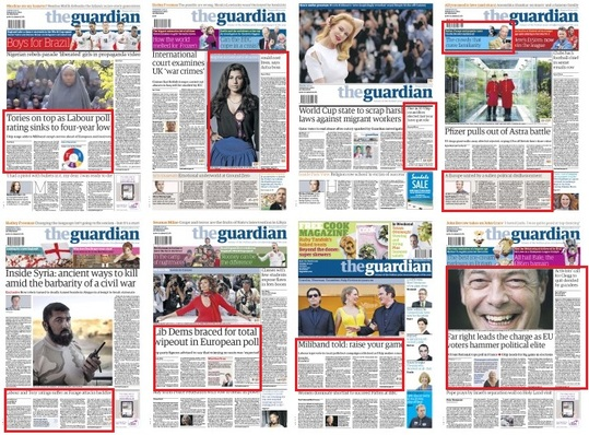 Guardian front pages