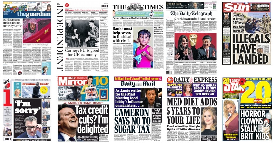 Front pages 22-10-15