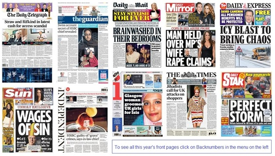 front pages 22-02-15