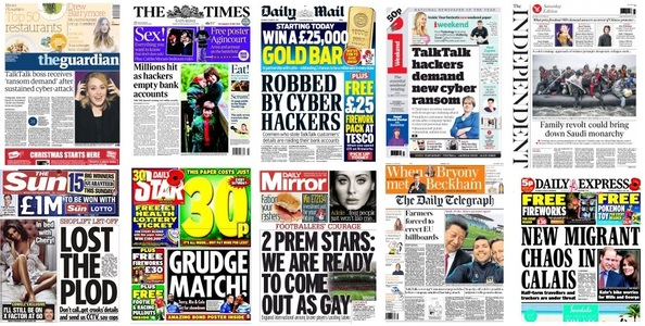 Front pages 24-10-15