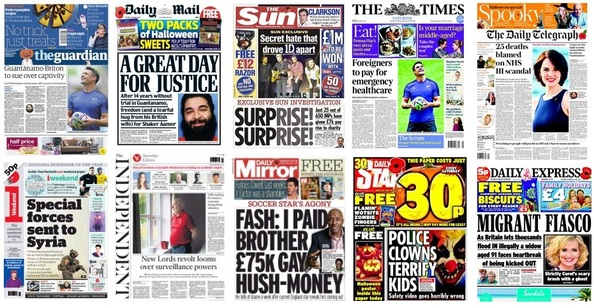 Front pages 31-10-15