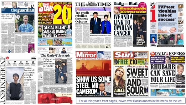 Front pages 20-10-15