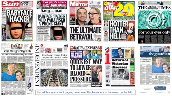 Front pages 28-10-15