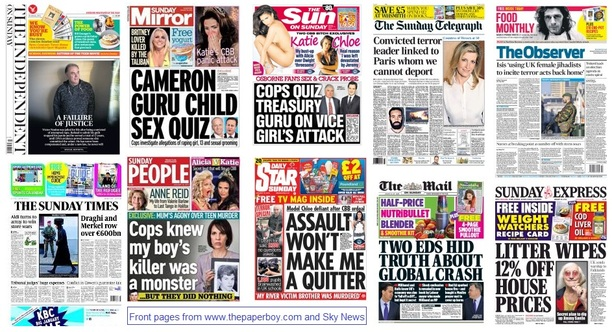front pages 18-01-15
