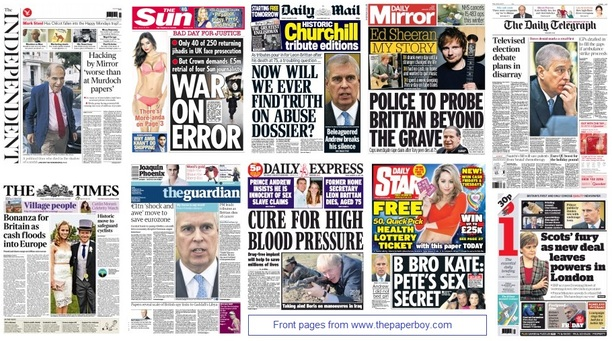 front pages 23-01-15