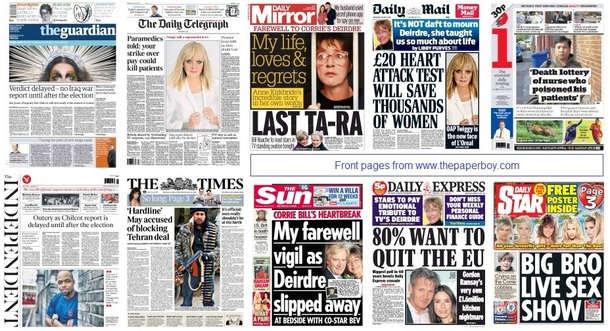 front pages 21-01-15