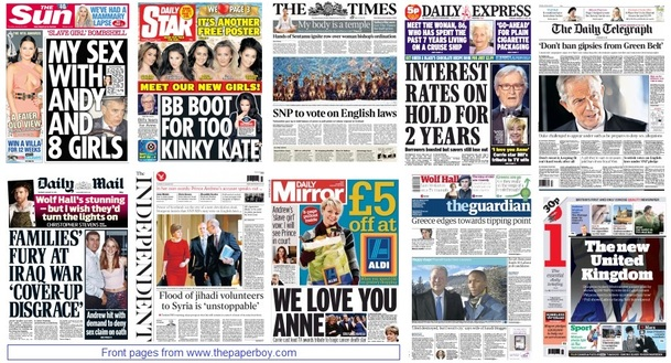 front pages 22-01-15