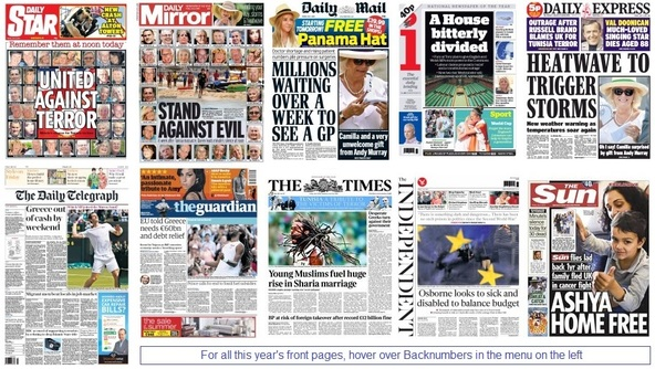 front pages 03-07-15