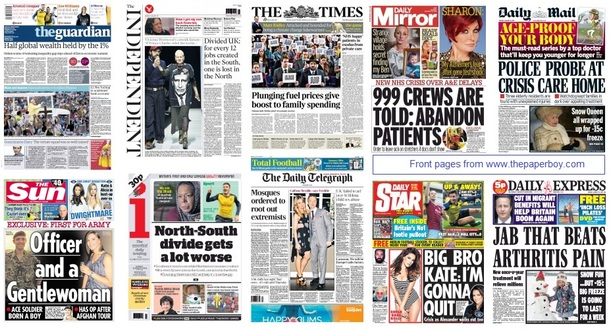 front pages 19-01-15