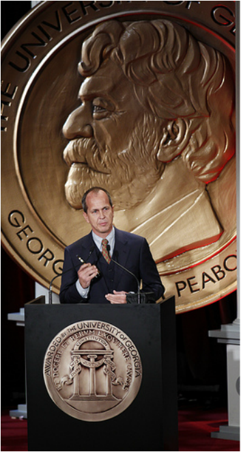 Peter Greste receiving Peabody award 2011