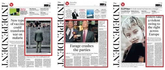 Independent front pages