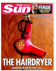 The Sun hairdryer front page