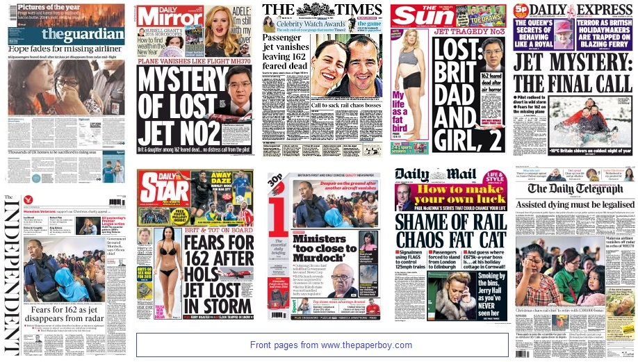front pages 29-12-14