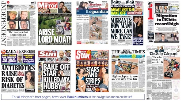 front pages 28-08-15