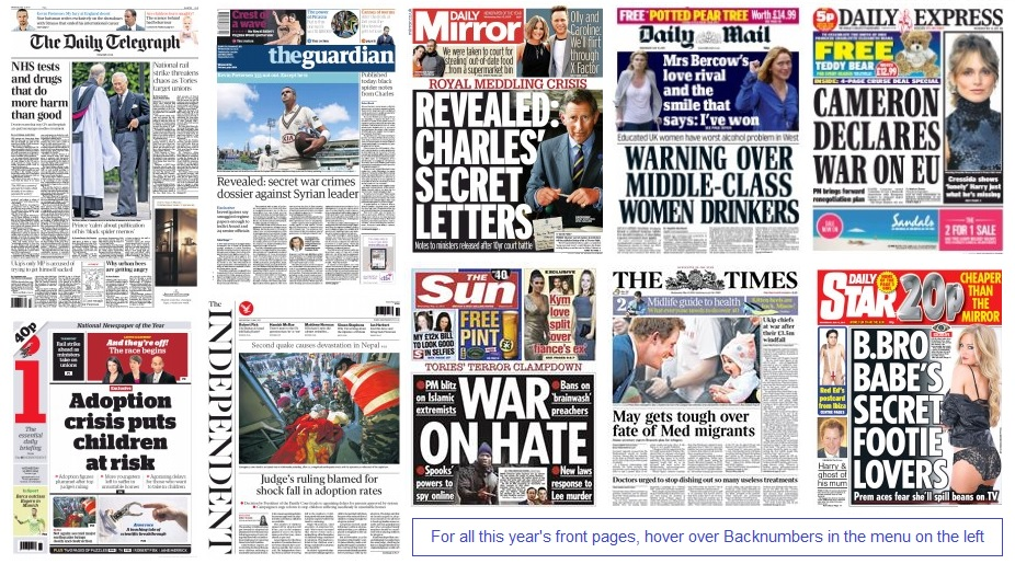 Front pages 13-05-15