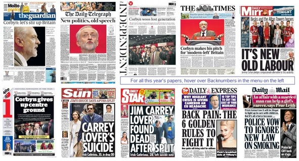 front pages 30-09-15