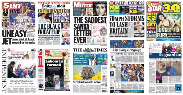 Front pages 28-11-15