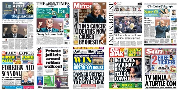 front pages 302-05-15