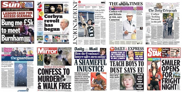 front pages 11-09-15