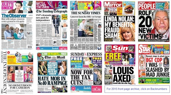 front pages 103-05-15