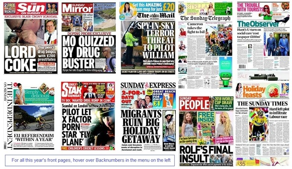 front pages 26-07-15