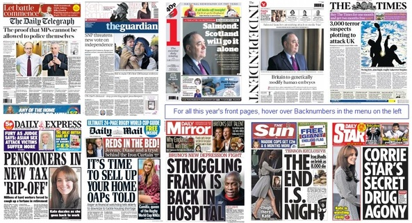 front pages 18-09-15