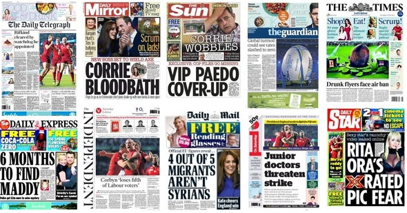 front pages 19-09-15
