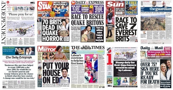 front pages 27-04-15