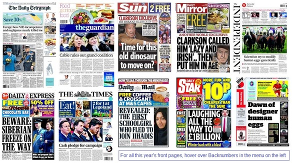 front pages 14-03-15