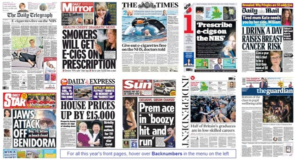 front pages 19-08-15